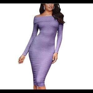 Venus Off Shoulder Knee Dress